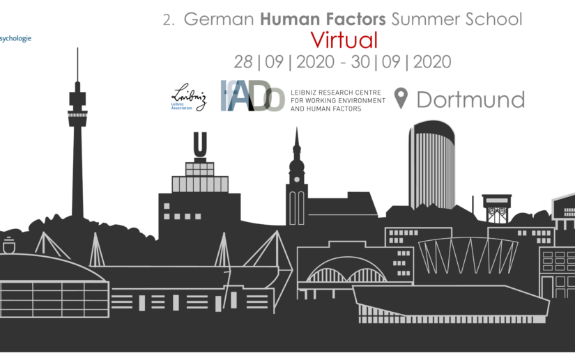 2nd German Summer School for Human Factors 2020
